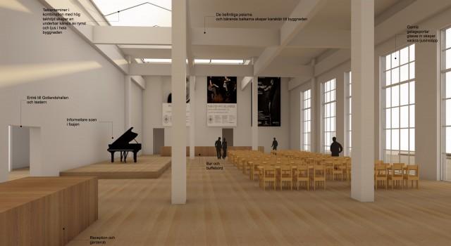 Dynamiskt kulturhus mitt i staden